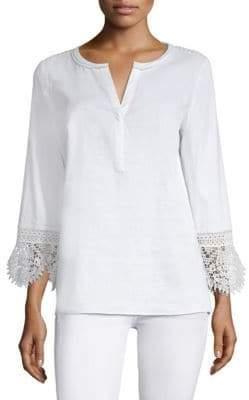Kobi Halperin Lace Linen Tunic