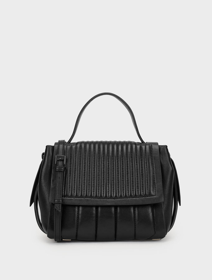 DKNY Quilted Nappa Gansevoort Flap Shoulder Bag