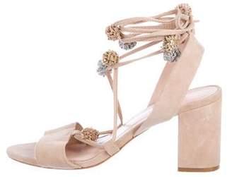 Loeffler Randall Suede Ankle-Strap Sandals