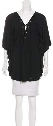 Melissa Odabash Draped Knit Blouse