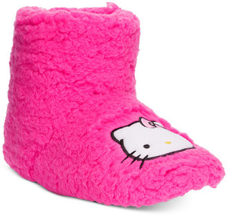 Hello Kitty Faux-Sherpa Slipper Boots $30 thestylecure.com