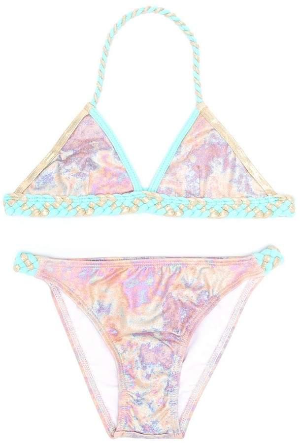 Little Marc Jacobs iridescent braided bikini set