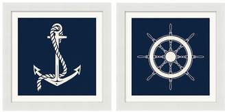 Pottery Barn Graphic Nautical Icons Print