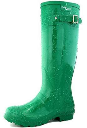 Hunter DailyShoes Women's Knee High Rain Boot Round Toe Rainboots