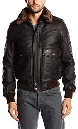 Schott NYC Men's LC5331X Leather Jacket Jacket, Brown (Ant.Brown Ant.Brown), (Manufacturer Size:S)