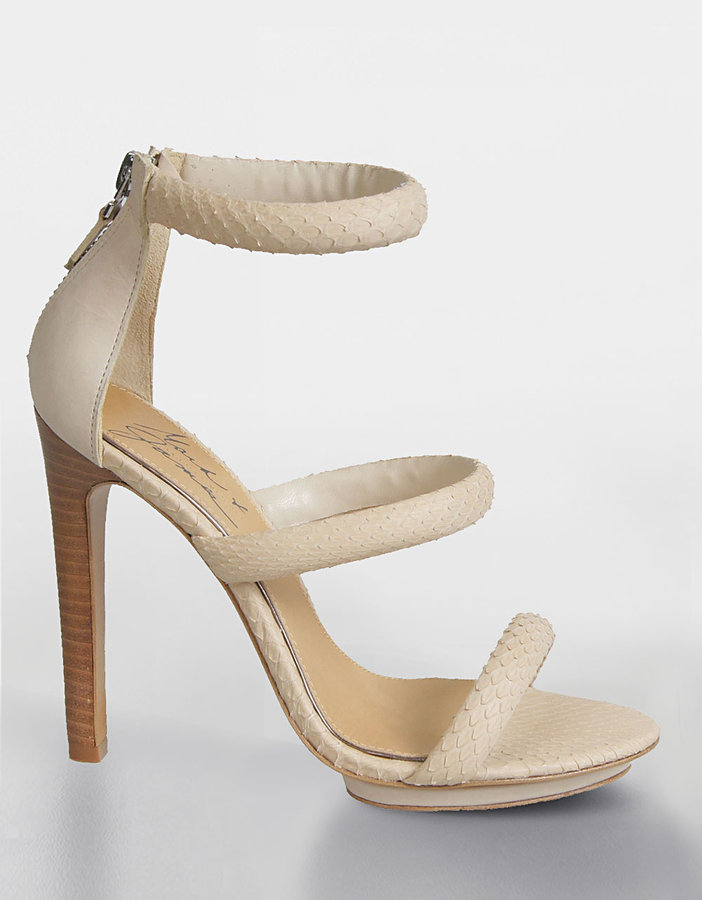MARK+JAMES SHOES Malana Snake-Embossed Platform Sandals