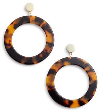 Halogen Hoop Drop Earrings
