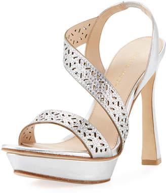 Pelle Moda Posey Metallic Platform Evening Sandal