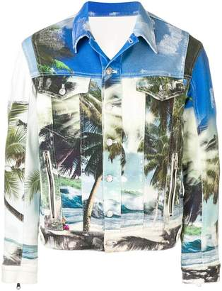 Balmain Beach printed denim jacket