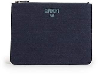 Givenchy SLG Denim Zip Pouch