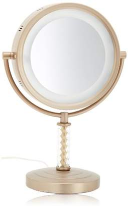 Jerdon HL856BC 8-Inch Halo Lighted Vanity Mirror with 6x Magnification