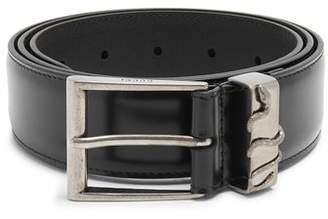 Gucci Snake Embossed Leather Belt - Mens - Black