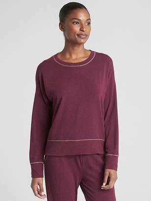 Gap Metallic Speckled Crewneck Pullover Sweatshirt