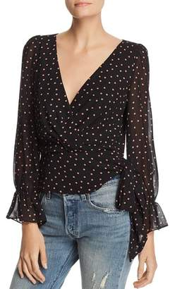 Lucy Paris Kendall Dot Side Tie Blouse