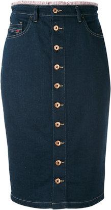 Diesel buttoned denim skirt $158.06 thestylecure.com