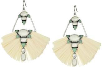 Lucky Brand Set Stone Raffia Statement Earrings Earring