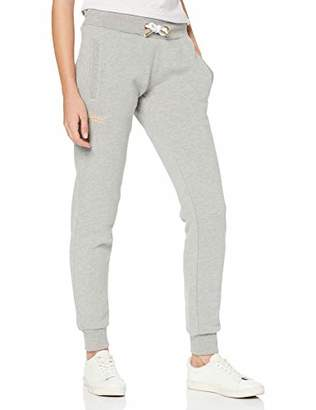 Superdry Women's Orange Label Jogger Sports Trousers, (Elite Grey Marl Ba5), 16 (Size: 14)