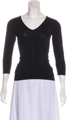 Barbara Bui Long Sleeve V-Neck Top