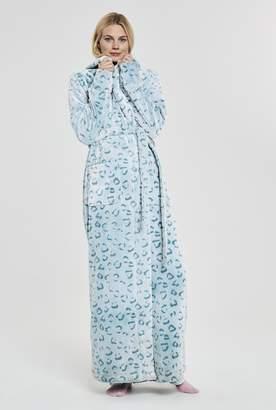 5d37582603 Long Tall Sally Animal Print Fluffy Hooded Robe