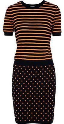 RED Valentino Intarsia-Knit Wool Silk And Cashmere-Blend Mini Dress