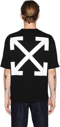 Off White Cotton Jersey T-Shirt $405 thestylecure.com