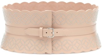 Alaia Studded leather corset belt
