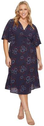 Kiyonna Cecile Chiffon Wrap Dress Women's Dress