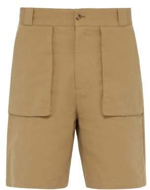 P. Johnson - Cotton Blend Fishing Shorts - Mens - Brown