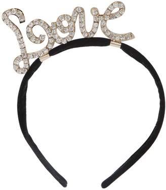 Simonetta Love Embellished Velvet Headband