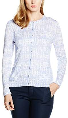 Jacques Vert Women's House Print Cardigan, (Light Blue)