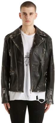 Burton Mjb - Marc Jacques Corium Vintage Leather Biker Jacket