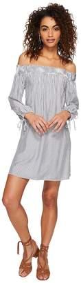 BB Dakota Minogue Boyfriend Stripe Dress with Back Cut Out Women's Dress