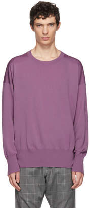 Sulvam Pink Wool Crewneck Sweater
