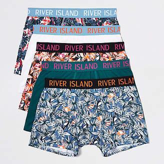 River Island Orange flamingo print trunk multipack