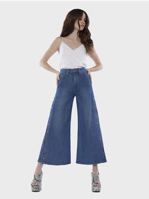 Alice + Olivia Gorgeous Crop High Rise Wideleg Jean