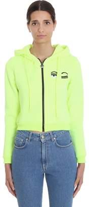 Chiara Ferragni Sweatshirt In Yellow Cotton