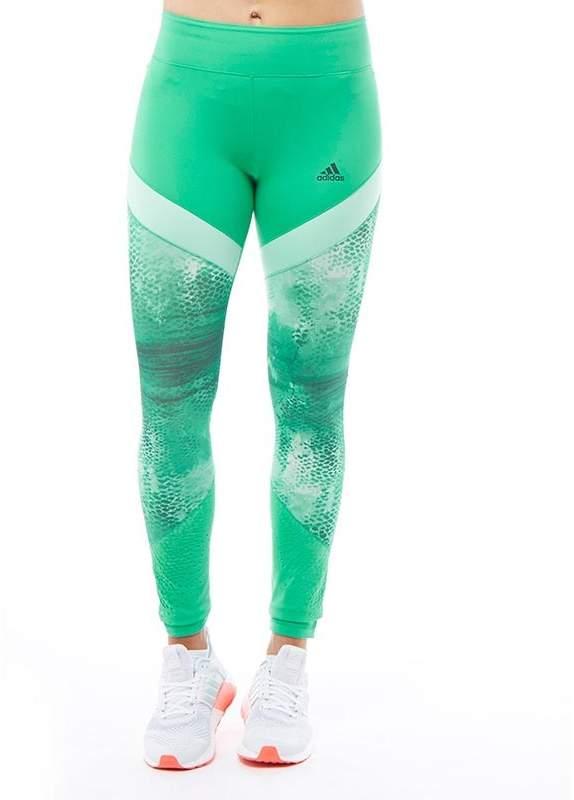 Damen Ultimate Climalite Lauf Leggins Grün
