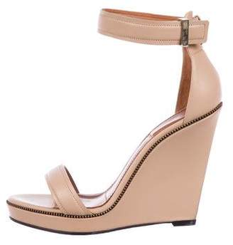 Givenchy Leather Ankle-Strap Wedges