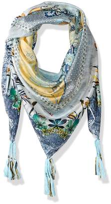Johnny Was Women's Patterned Silk Square Scarf with Tassels