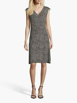 Betty Barclay Slip-on Jersey Dress, Dark Blue/Cream