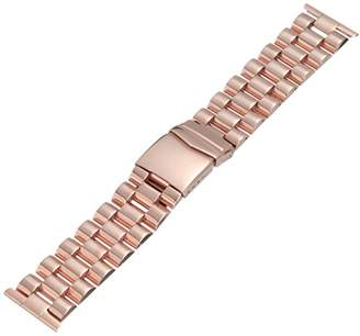 Hadley-Roma MB9024RRSE 26 26mm Stainless Steel Rose Gold Watch Strap