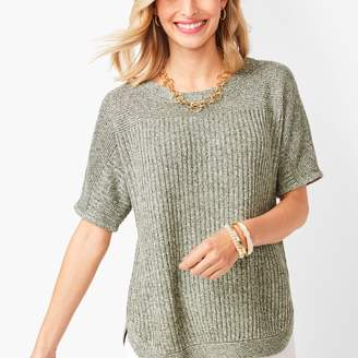 Talbots Marled Chunky-Knit Linen Sweater