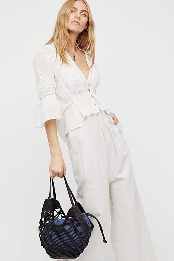Cut Out Leather Tote by Free People
