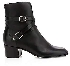 Jimmy Choo Women's Harker Buckle Leather Ankle Boots