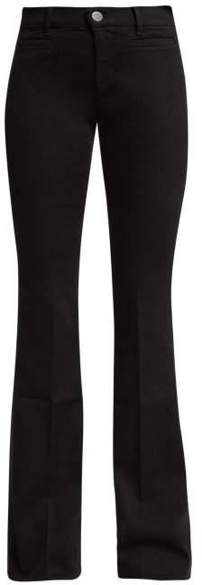 Marrakesh High Rise Kick Flare Jeans - Womens - Black