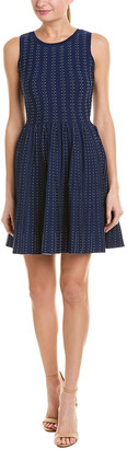 Milly Pleated Dot A-Line Dress