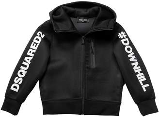 DSQUARED2 Downhill Hooded Mesh & Neoprene Jacket