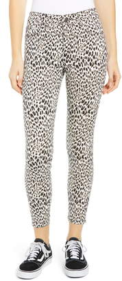 Tinsel Leopard Print Skinny Jeans