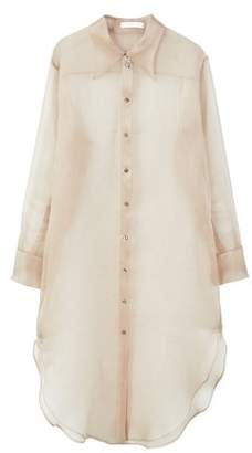 MANGO Silk long shirt