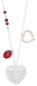 SwarovskiCrystal Heart Charmed Pendant Necklace